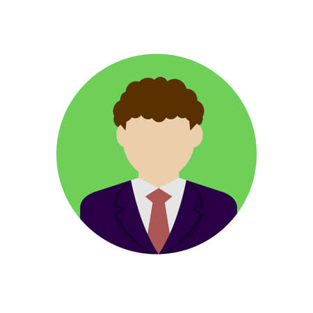 Businessman avatar illustration