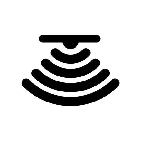 the sensor icon (the Ceiling) Vettoriali