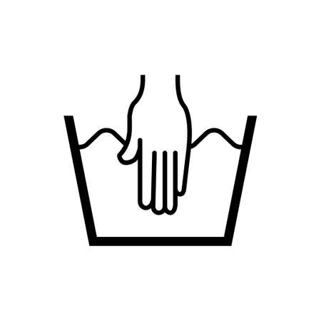 laundry symbol icon (hand wash)
