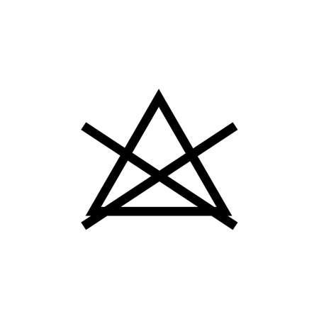 Laundry symbol icon (No bleach)