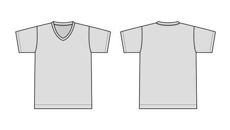 V neck t-shirt illustration (gray) Illusztráció