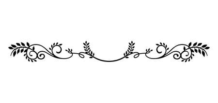 decorative vintage border illustration (natural plant) Stock Illustratie