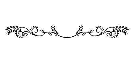 ilustración decorativa de borde vintage (planta natural)