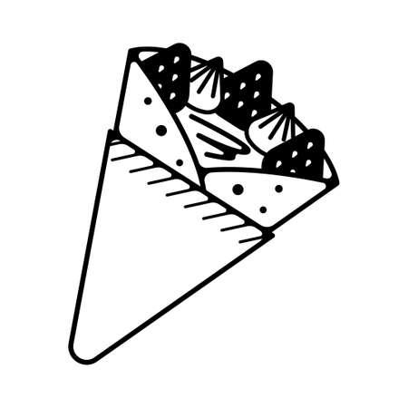 Crepe illustration icon Illusztráció