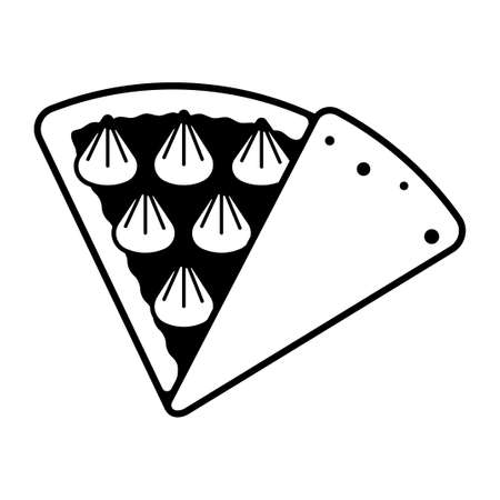 Crepe illustration icon (Whipped cream)
