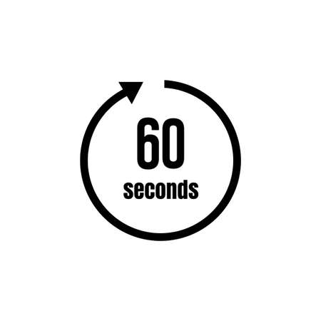 Clock, timer (time passage) icon/60 seconds