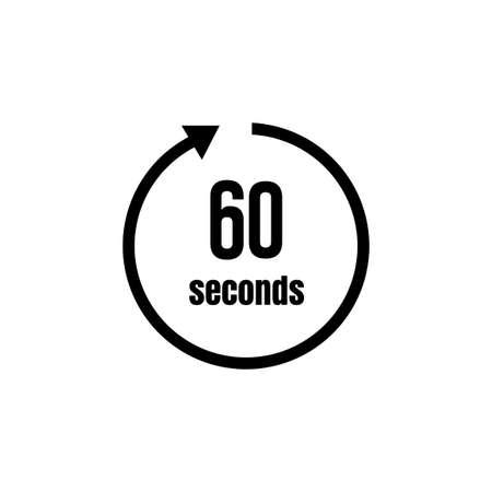 Reloj, icono de temporizador (paso del tiempo) / 60 segundos