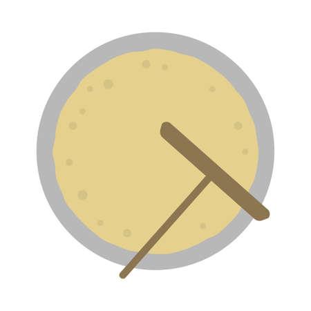 Crepe color illustration / baking crepe