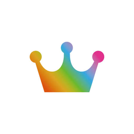 Rainbow crown icon Illustration