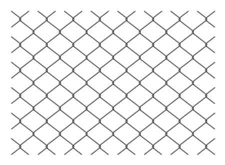 illustration de modèle de clôture métallique