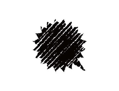chalk drawing shape (scream bubble)