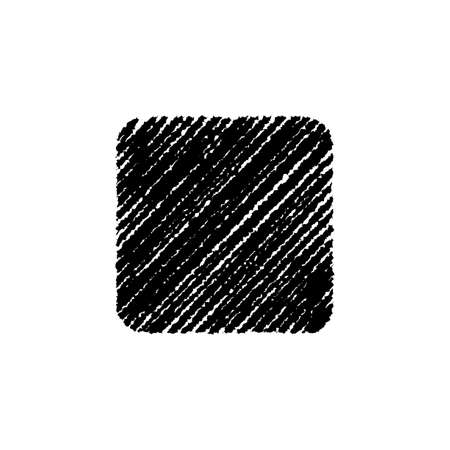 chalk drawing shape (rounded square) 向量圖像