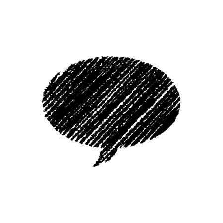 chalk drawing shape (speech bubble)