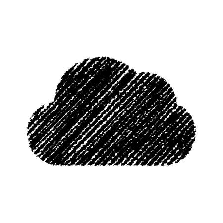 chalk drawing shape (cloud)