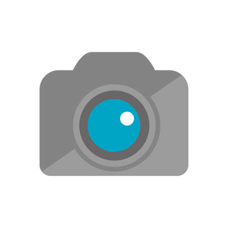 Color illustration icon  camera, photographic 일러스트