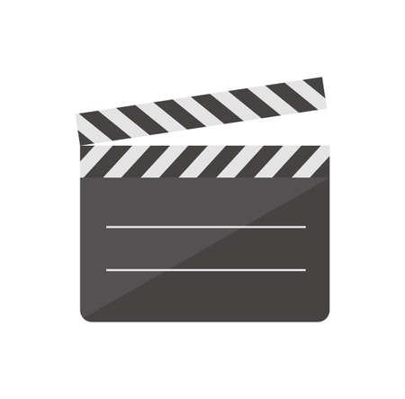 Color illustration icon / clapperboard, movie, cinema, video