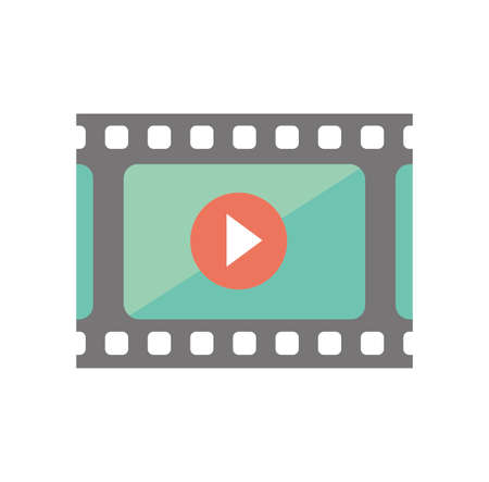 Color illustration icon / film, movie, video 写真素材 - 106190377