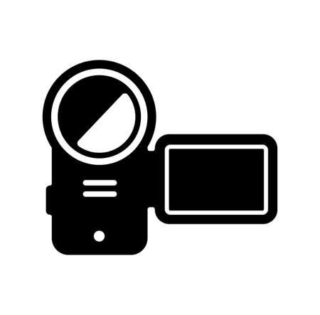 video camera, camcorder icon
