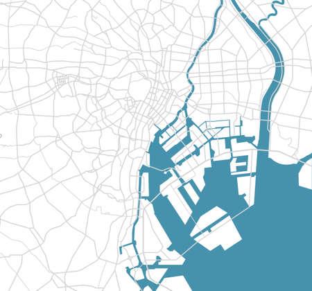Straßenkarte der Bucht von Tokio