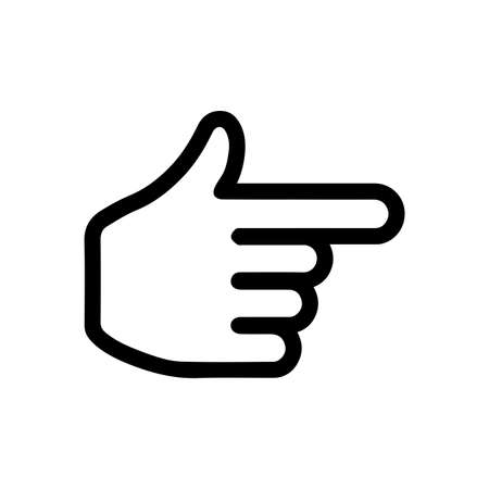 finger, pointer, the cursor icon (rightnext page) Stock Illustratie