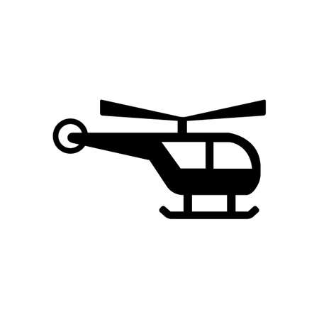helicopter and heliport icon  public information symbol Illustration