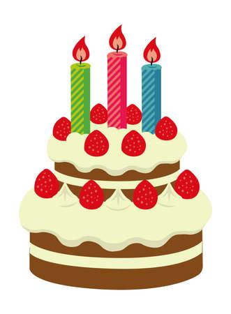 Birthday cake illustration Illustration