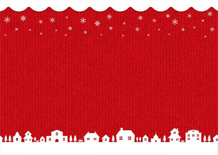 winter, christmas background image (knit pattern)  red