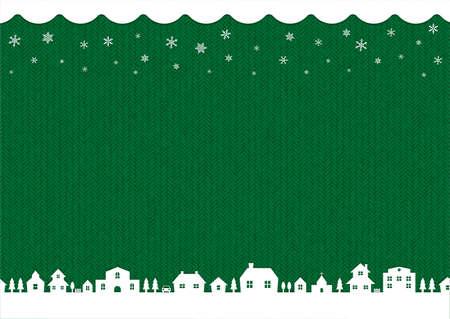 winter, christmas background image (knit pattern)  green