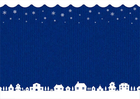 winter, christmas background image (knit pattern)  blue