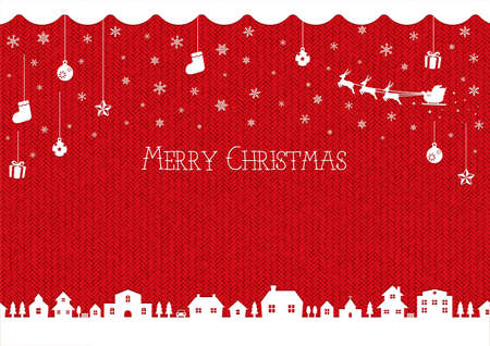 Christmas background image (knit pattern)  red