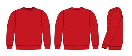 Illustration of sweat shirt (red) Vetores