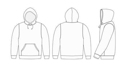 Illustration de hoodie (sweat à capuche) / blanc Vecteurs