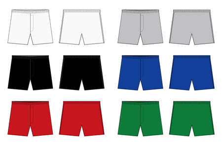 Ensemble d'illustrations de modèles de boxeurs pour hommes (shorts, caleçons)