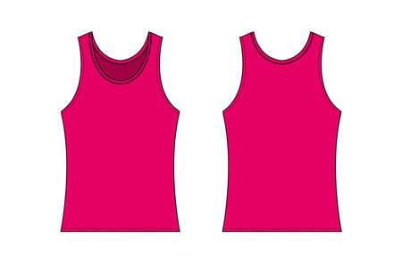 womens tank top template illustration  pink Illustration
