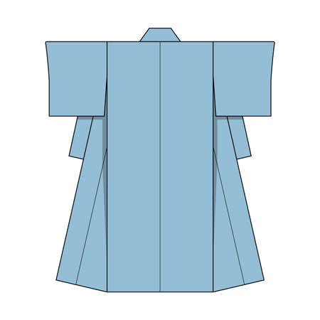Japanese kimono template illustration (lightblue)