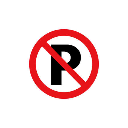 Prohibition sign (pictogram)  No parking