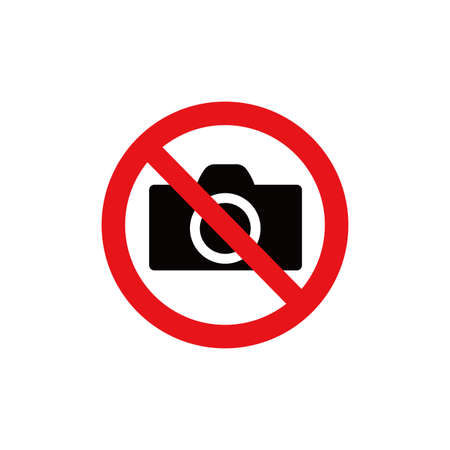 Prohibition sign (pictogram) and Do not use photographs  イラスト・ベクター素材