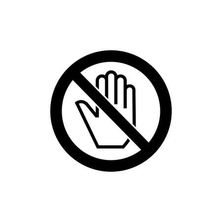 Prohibition sign (pictogram) and Do not touch