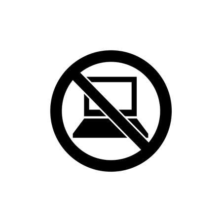 Prohibition sign (pictogram) and Do not use electronic devices  イラスト・ベクター素材