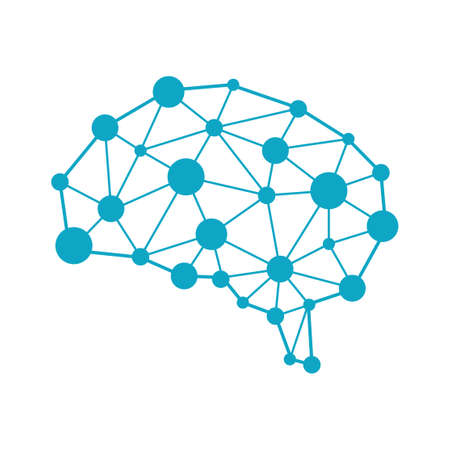 AI(人工知能)画像イラスト。 ベクターイラストレーション