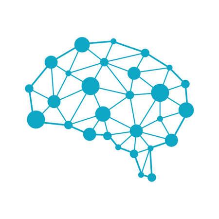Ilustración de imagen AI (inteligencia artificial). Ilustración de vector
