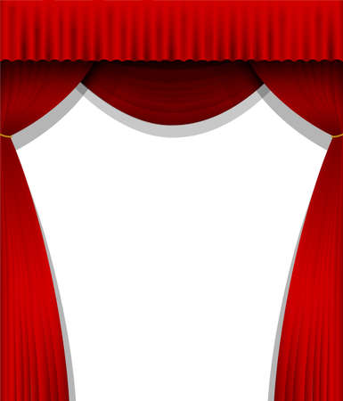 Red curtain background illustration (portrait)