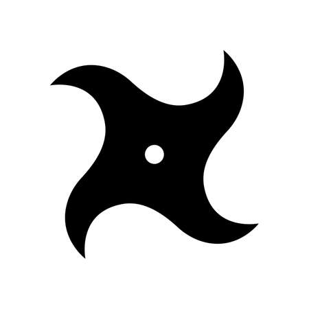 Shuriken, Ninja icon illustration