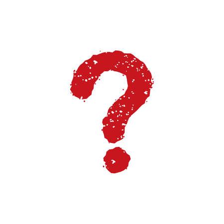 rubber stamp icon (question mark) Ilustração
