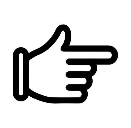icona freccia dito Vettoriali