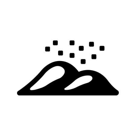 yellow dust icon  イラスト・ベクター素材