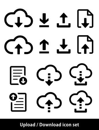 Conjunto de iconos de carga / descarga
