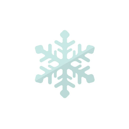 Weather icon and color version (snowflake, snow day)
