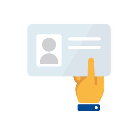 show ID card / submit identification card icon Vectores
