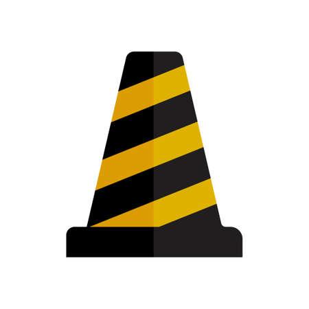 safety cone icon  イラスト・ベクター素材